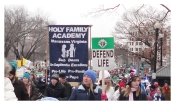 March 4 Life banner and crowd