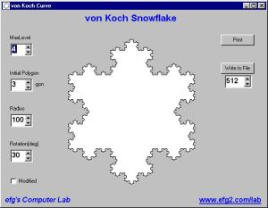 ScreenVonKochSnowflake