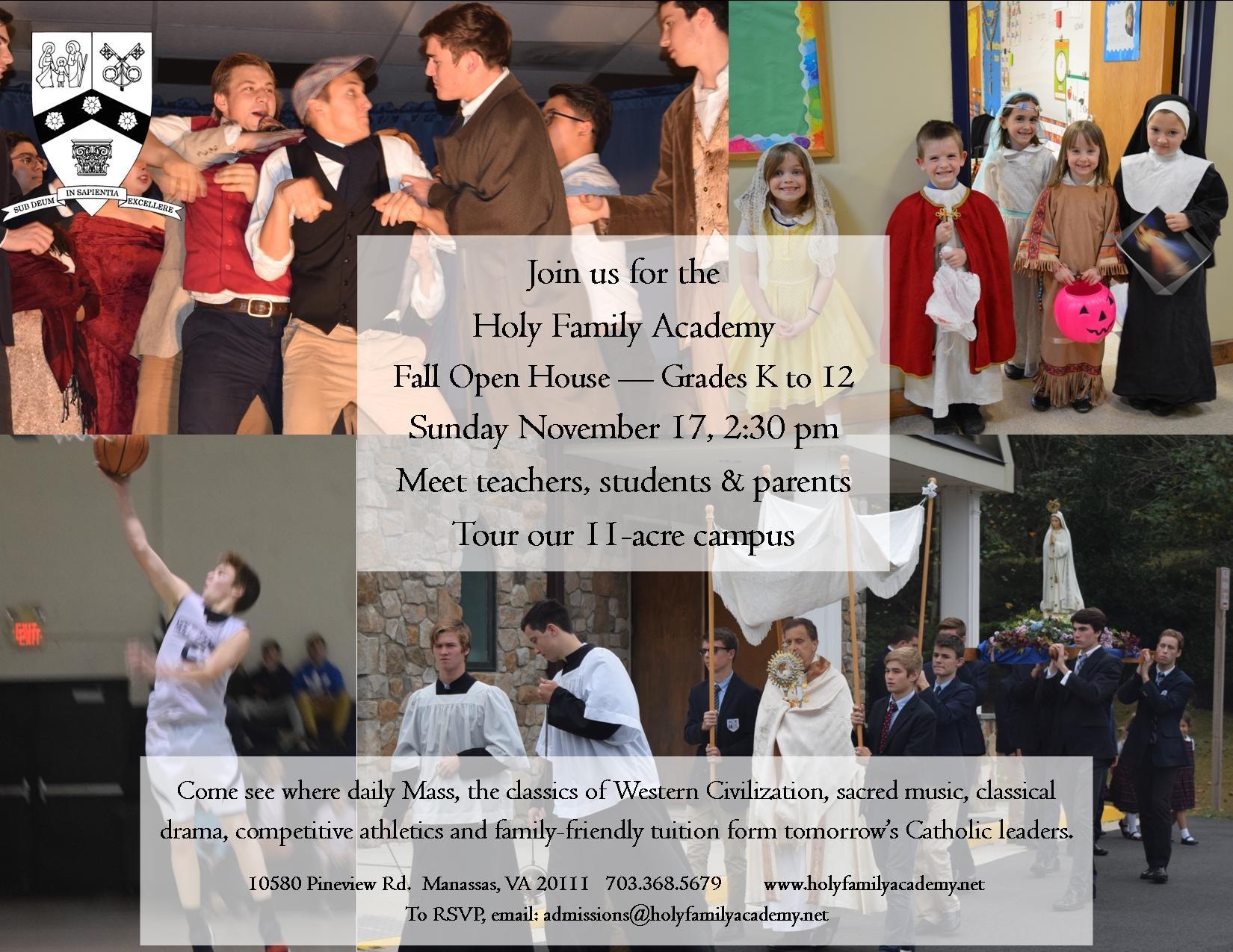 HFA 2019 Fall Open House Flyer